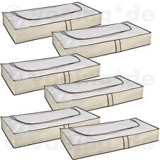6 Stück Unterbett Kommoden Unterbettkommode Unterbett Kommode atmungsaktiv beige