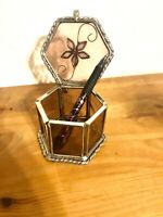 stained glass trinket box jewelry ring box