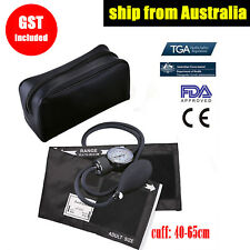 Manual Aneroid Sphygmomanometer Blood Pressure Adult Thigh BP Cuff Gauge Machine