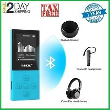 Bluetooth Mp3 Player with Fm radio 100hrs Playback and 128Gb Expandable, Blue