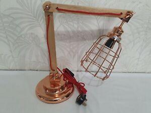 Retro Vintage Style Desk Lamp Office Metal / Wood Industrial Lamp  Copper
