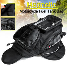 Magnetic Motorcycle Fuel Tank Bag Waterproof Saddlebag Cell Phone Pouch  <