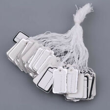 Bulk 100pcs Labels Tie String Strung Price Tickets Jewelry Cloth Display Tags