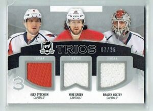12 13 UD The Cup Trios  Alex Ovechkin--Mike Green--Braden Holtby  /25  Jerseys