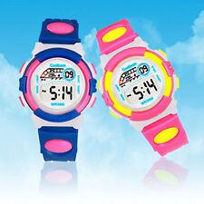 1 Boy Girl Kids Child Lady Digital LED Sports stopwatch Wrist Watches Alarm Gift