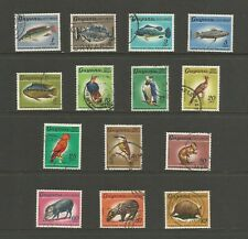 Guyana 1968-71 Wildlife, used part set. Birds, fish