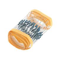 100 Pcs 1/4W 1k ohm Metal Film Resistor Assortment Kit Set 0.25W 1% For Arduino
