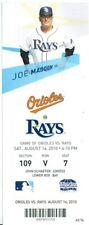 2010 Rays vs Orioles Ticket: Kelly Shoppach Grand Slam & sole HR/Adam Jones HR