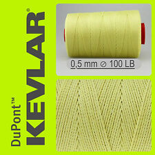 KEVLAR DuPont RAW YELLOW 100 LB 0.5mm 200FT 61 M LINE BRAIDED WIRE KITE FISHING