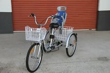 """Trike Bike Adult Tricycle 24"""" Aluminium Frame 3 Wheels 7 Speeds WITH Baby Seat"""