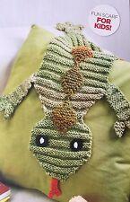 Knitting Pattern Childrens Lézard Animal Écharpe enfants Reptile Serpent Garçons Motif