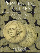 Presidential Dollars P&D Mint Volume One 2007-2011 Harris #2277 ISBN #07948277-0
