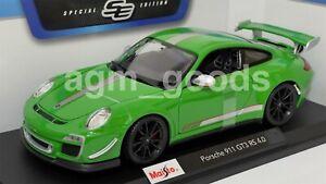 Maisto 1:18 Scale - Porsche GT3 RS - Green - Model Car