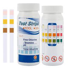 More details for 100 chlorine dip test strips hot tub swimming pool ph tester paper 2bottles