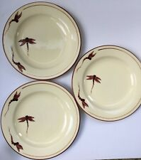 Vintage Poole Pottery Dragonfly Luncheon Plates