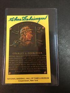 Charles Gehringer signed HOF Induction Plaque Post Card