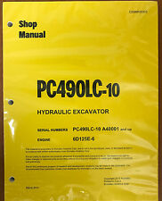 Komatsu PC490LC-10 Hydraulic Excavator Shop Repair Service Manual