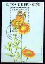 Papillons Saint Thomas et prince (30) bloc oblitéré