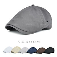 VOBOOM Solid Cotton Gatsby Cap Golf Driving Summr spring Cabbie Newsboy Ivy Cap