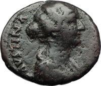 FAUSTINA II Marcus Aurelius Wife 164AD Genuine Ancient Roman Coin Venus i71085