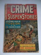 EC: CRIME SUSPENSTORIES #15, BURY IN DITCH BONDAGE COVER/OLD WITCH, HTF, 1953, G