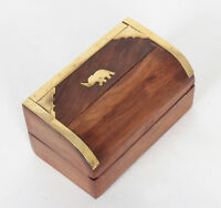 Decorative Storage Box Handmade Wooden  Jewellery Safe