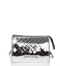 Armani Jeans - bolso AJ Ecoleather plateado -18x13x9 5cm- mujer chica