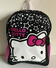 NEW! SANRIO HELLO KITTY HK STAR BLACK PINK GIRLS PRINTED BACKPACK BAG SALE