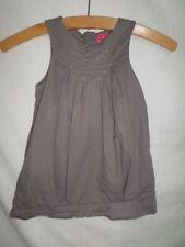 Obaibi Girls Mocha Sleeveless A-Line Dress 100% Cotton Size 18 Months