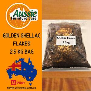 SHELLAC FLAKES GOLDEN ORANGE 2.5 KG Bag For French Polish For Antiques