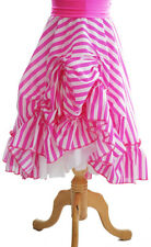 Pantomime-Widow Twanky-Ugly Sister PANTO DAME RUCHED STRIPED SKIRT - Mens Sizes