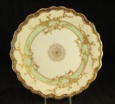 """Blakeman & Henderson Limoge Porcelain China Embossed Scalloped 9.5"""" Dinner Plate"""