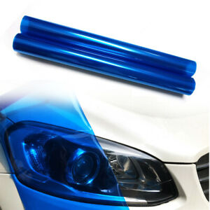 "12""x48"" Dark Blue Car Headlight Tint Film Taillight Color-Changing Vinyl Sticker"