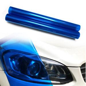 "12""x48"" Dark Blue Car Headlight Tint Film Taillight Color-Changing Vinyl Sticker"
