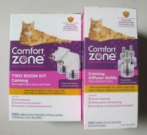 Comfort Zone Cat Calming Diffuser 2 Diffusers and 5 Refills