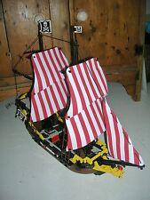 Brand NEW RED & WHITE SAILS per adattarsi LEGO PIRATI 6285 Mar Nero BARRACUDA nave