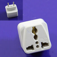 Universal Adaptor UK AU US to EU EURO Travel Power Plug Adapter Converter 2 Pin