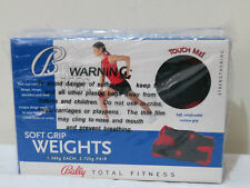 Bally Total Fitness 2 x Soft Grip Weights (1.36kg  Each,2.72kg Pair)
