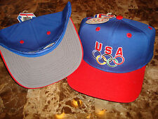 USA OLYMPIC OLYMPICS 92-96 DREAM TEAM JORDAN RING 90'S HAT CAP VINTAGE SNAPBACK