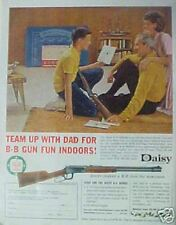 1962 Daisy Vintage Boys Toy Gun Rifle Indoor BB Range Mom Dad Christmas Trade AD