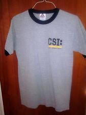CSI med ringer T shirt Crime Scene Investigation logo TV show tee gray