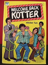Welcome Back Kotter Unused 1977 Whitman Sticker Book