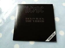 AC/DC Back In Black - The Videos Rare 5 Track Card Sleeve DVD CD