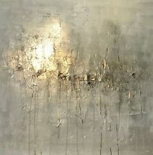 Large statement Abstract canvas painting! Stunning Greys/Champagne canvas art