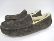 New! UGG Australia 5775 Ascot Suede Slipper in Gray Men's Size: 18