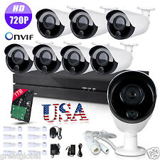 Motion Dection 8CH PoE NVR HD IP Network P2P CCTV Home Security Camera System 1T