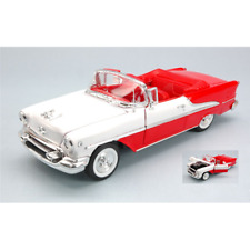 OLDSMOBILE SUPER 88 CONVERTIBLE 1955 RED/WHITE 1:24 Welly Auto Stradali