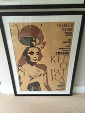 Rare Cleopatra Kleopatra Original Polish Movie Film Poster 1963 Framed & Mounted