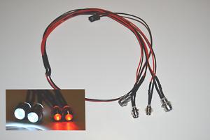 RC Car LED Beleuchtung 4-Fach Front und Heck Beleuchtung Anschluss an Empfänger