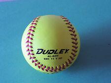 "Softball balls Dudley Little League Softball Cork Center Leather Cover 11"" 6 Oz"